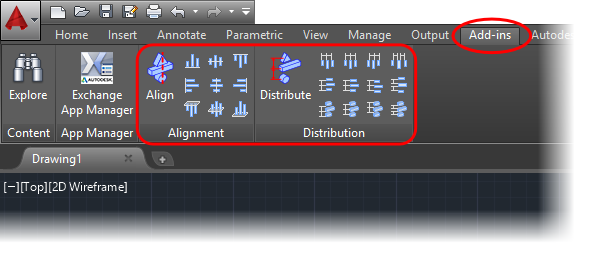 The easyest way to align and distribute in AutoCAD - Arsenal Technology